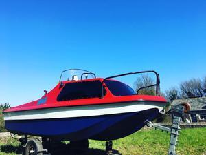 Fishing boat 16ft CJR + trailer + mooring + mariner 40