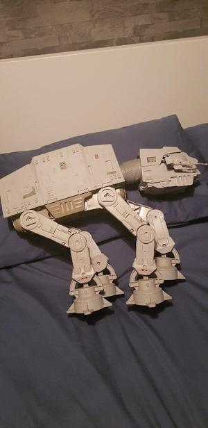 Vintage Star Wars Millenium Falcon and AT-AT