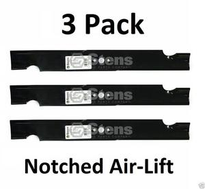 3 Pk Stens  Notched Air-Lift Blade For Snapper