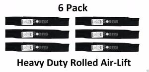 6 Pack Stens  HD Rolled Air-Lift Blade Fits Ariens