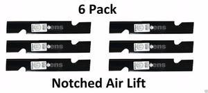 6 Pk Stens  Notch Air Lift Blade For Husqvarna
