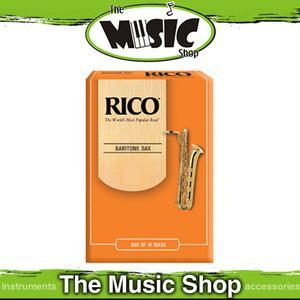 Rico 2 1/2 Strength Baritone Saxophone Reeds - Box of 10 -