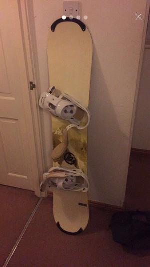 Snowboard with burton binding