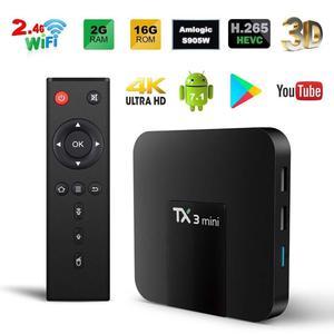 TX3 Mini - A Android 7.1 Quad Core TV Box 2GB+16GB HD Media Player WIFI UK