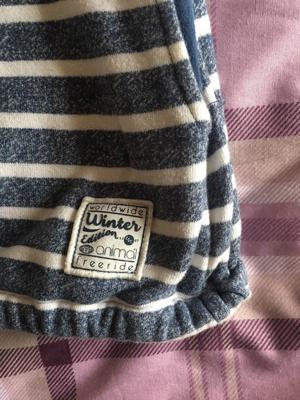 Ladies Blue and cream striped Animal jumper size 10