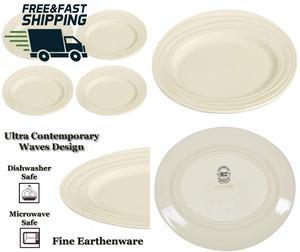 """Jamie Oliver Waves Set of 4 Large 33cm/13"""" Oval Dinner"""