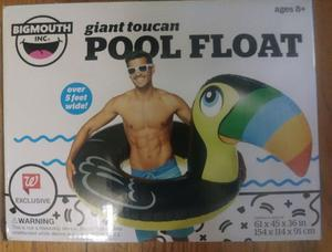 Toucan Bird Pool Float Large NIP Bigmouth Over 5 ft Wide
