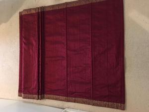 Indian Silk Dark Crimson Roman Blind with decorative braid
