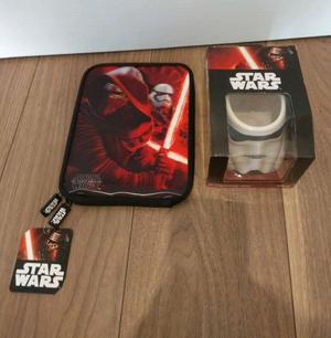 """New Disney Star Wars 3D Character Mug And 8"""" Tablet Case."""