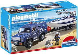 Playmobil  City Action Police Truck with Speedboat
