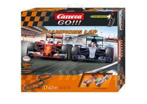 Carrera CA Champions Lap 4.3m F1 Mercedes/Ferra ri Slot