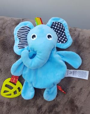 M&S Marks and Spencer Blue Elephant Activity Soft Toy