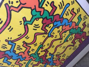 Keith haring framed pop art authorised print.