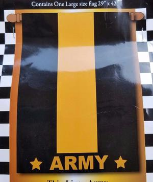 """Army Thin Line Decorative Flag Large 29"""" X 42"""" Double Sided"""