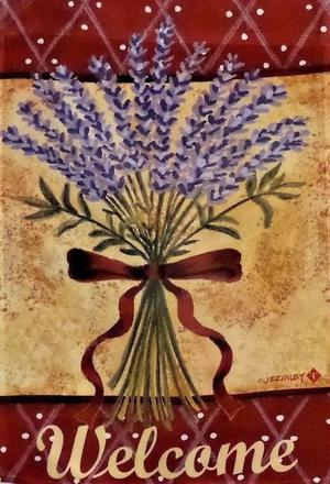 """Lavender Welcome Garden Flag by Toland, 12.5"""" x"""