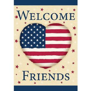 """WinCraft Patriotic Heart Large House Flag, 28"""" x 40"""""""