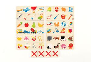 E HAPE Cross Out Wooden Card Learning Puzzle [Home