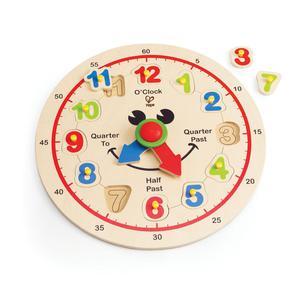 E HAPE Happy Hour Wooden Face Clock [Happy Puzzles]