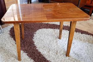 Extraordinary Unusual Small Vintage Yew Veneer Coffee Table
