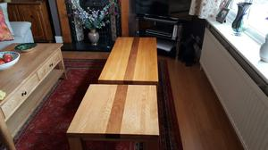 Indian Oak Coffee Table with matching Lamp Table
