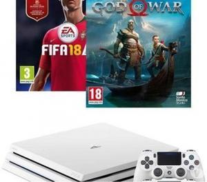 Brand new. PS4 Pro 1TB White Glacier + God of War and FIFA