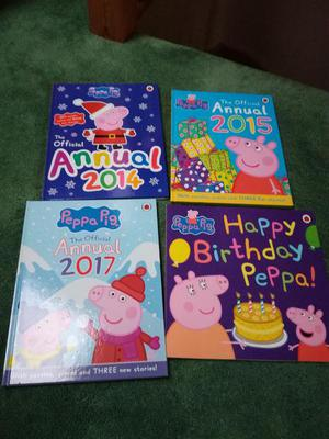 3 x Peppa Pig Annuals and Birthday Book, excellent condition