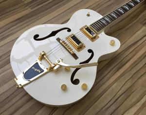 GRETSCH ELECTROMATIC GT WHITE WITH GOLD FITTINGS.