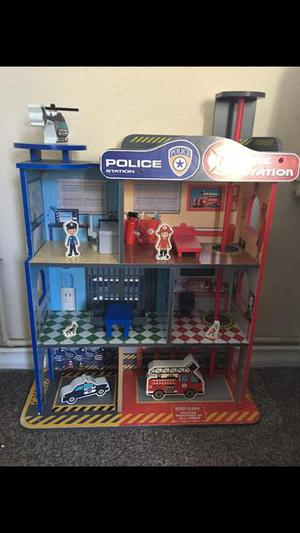 Wooden Fire/police station