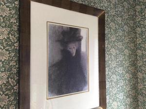 Framed print of Gustav Klimt portrait of a lady