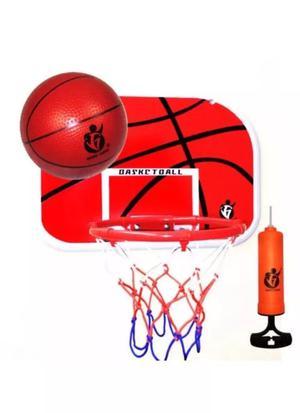 Basketball Hoop Mini Indoor Ball Set Net Childrens Toy Pump