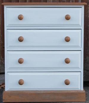 Small Painted Pine Chest of Drawers