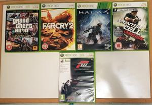 Xbox 360 Games X 5 Grandtheft auto lib city, Farcry 2, Halo