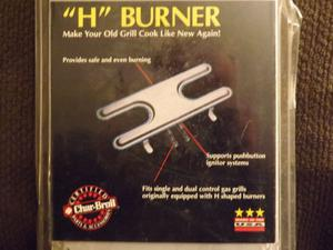 """Char Broil grill """"H"""" burner replacment part brand new fits"""