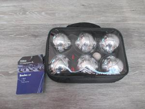 Brand New Set of Six Boules in Carry Case with Jack and