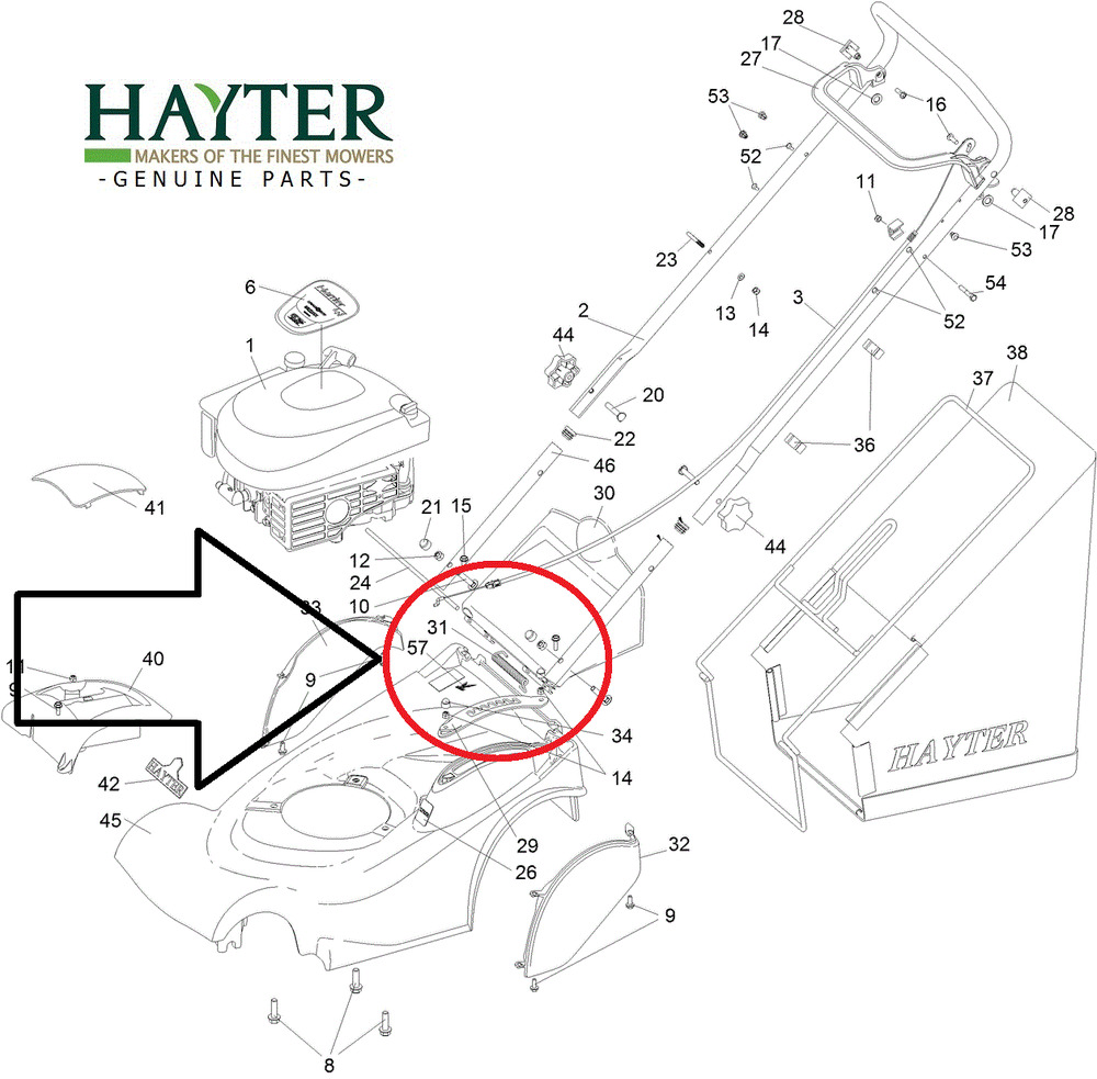 savers GENUINE Hayter Harrier )R ear Flap hold