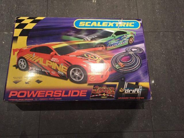 SCALEXTRICPOWERSLIDE RACING CAR SET AND EXTENSION PACK
