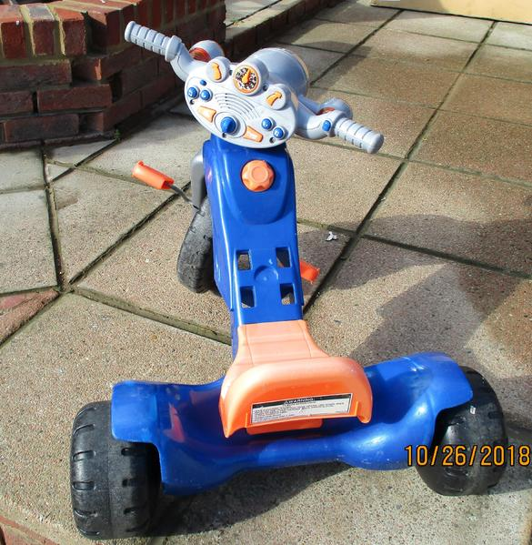 Mattel Sit & Ride motorbike Trike with sounds,music & more