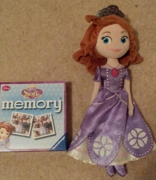 SOFIA THE FIRST PLUSH DOLL AND CARD GAME