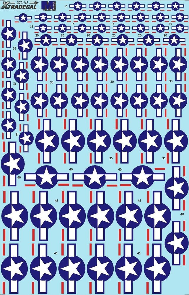 NEW Xtradecal X US US National Insignia. Stars and