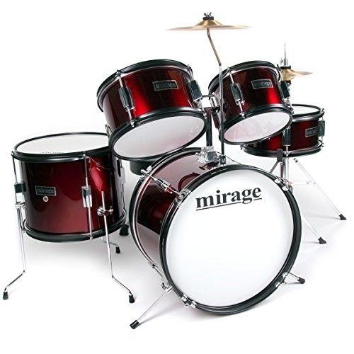 Mirage JDK 5 Piece Junior Drum Kit With Stool and Sticks -