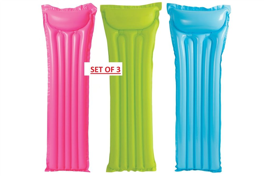 X3 Intex Inflatable Lilo Lounger Float Beach Swimming Pool