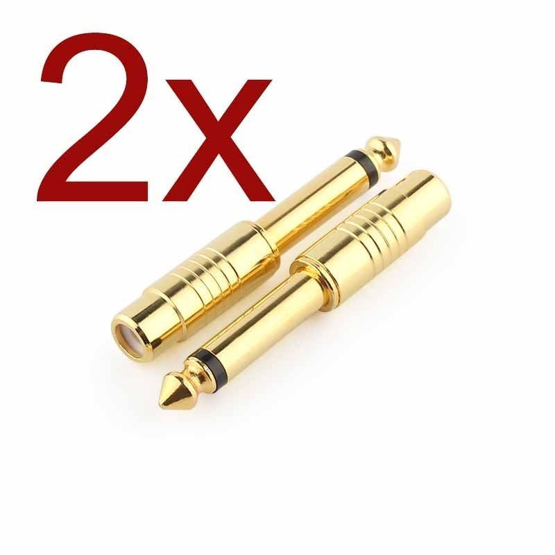 t- 2X GOLD Plated mm Mono Male To RCA Female Audio