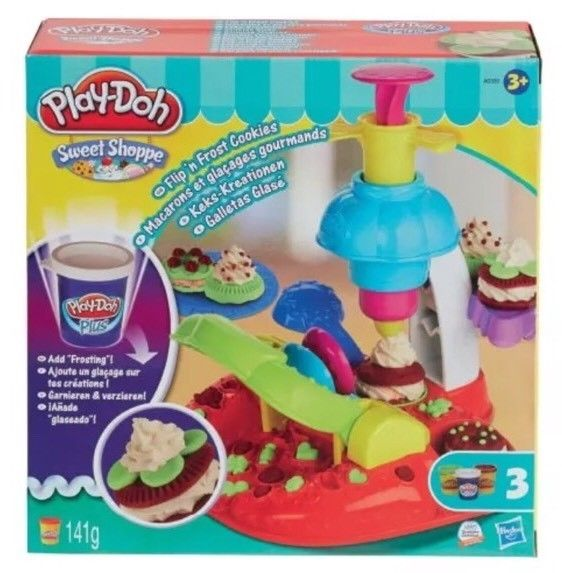 NEW Play Doh Flip n Frost Playset Cookie Machine Accessories