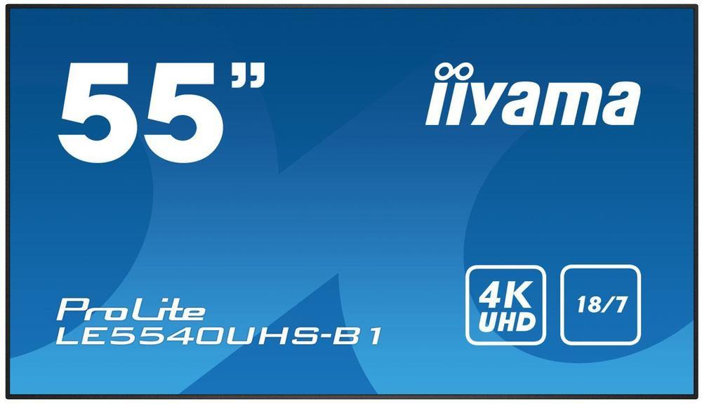 "iiyama 55"" LEUHS-B1 Display - 55"" Black Large Format"