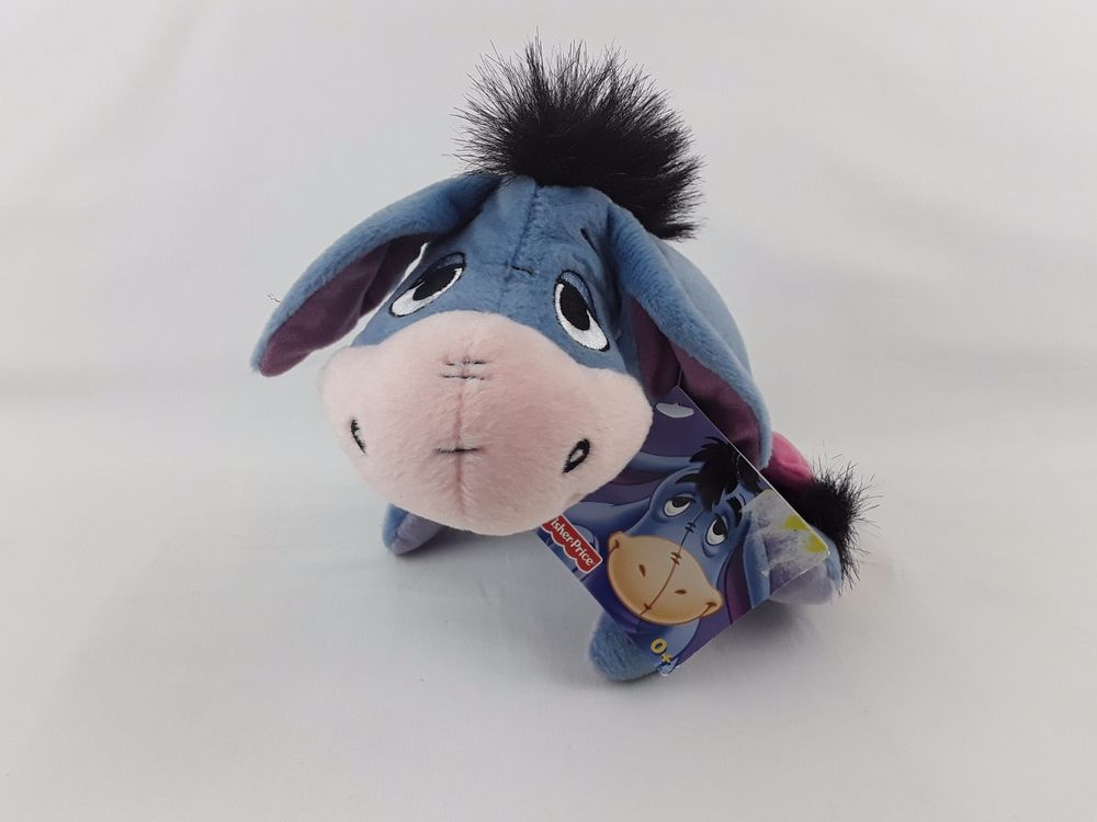 DISNEY FISHER PRICE WINNIE THE POOH EEYORE PLUSH SOFT TOY 9""