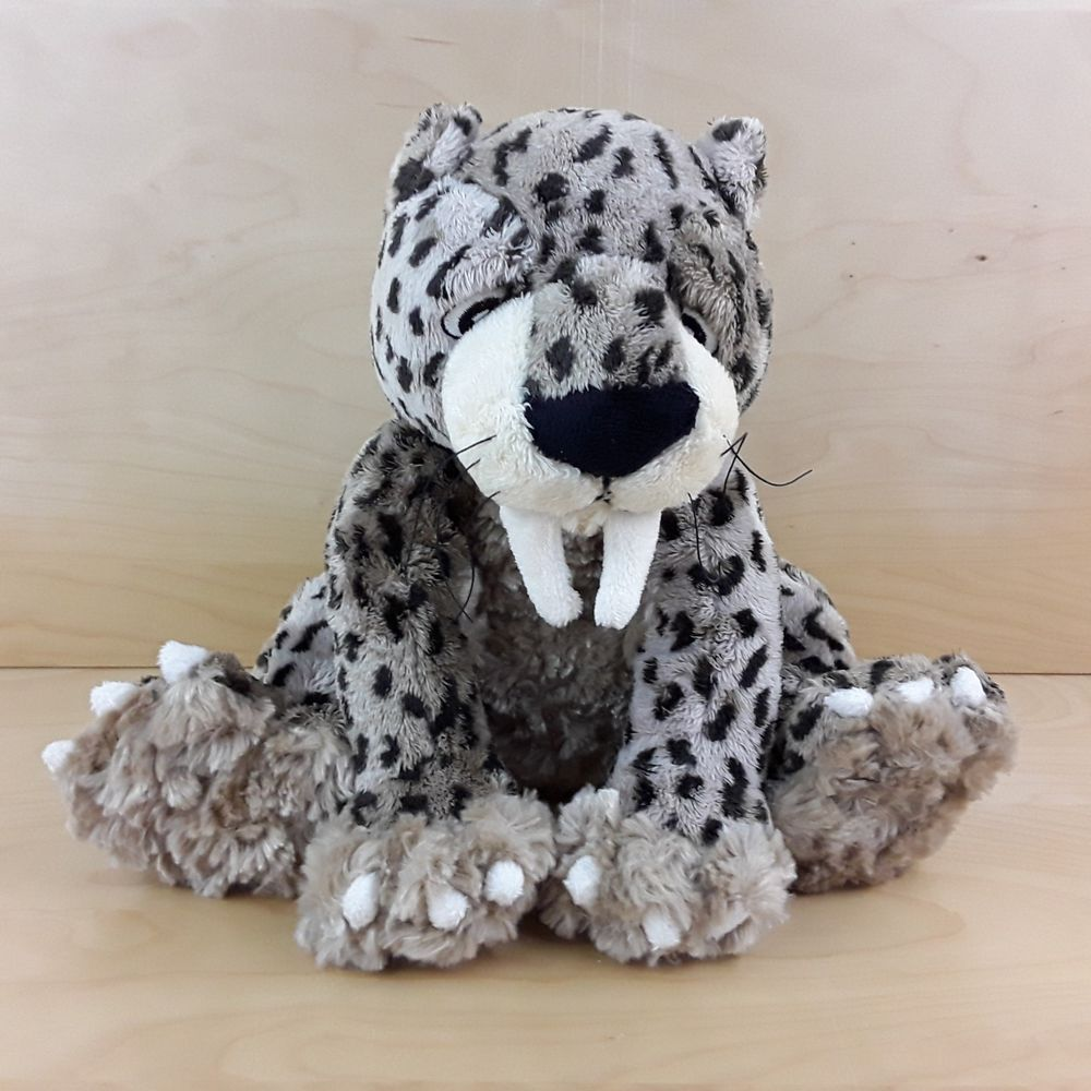 """MARKS AND SPENCER M&S SABER TOOTH TIGER 8"""" SOFT TOY"""