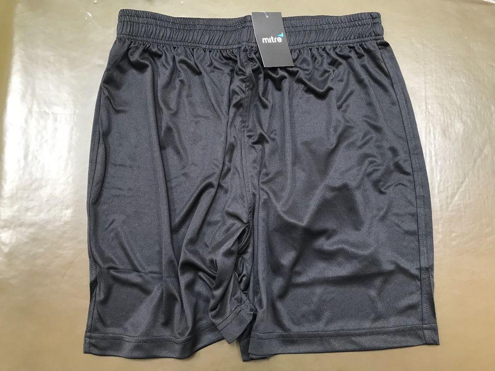 2 pairs Black Football Shorts - Mitre - Size  - Small -