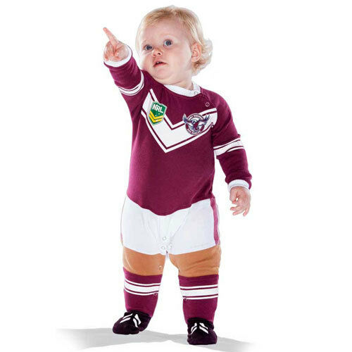NRL Manly Sea Eagles Baby Footysuit - Sizes