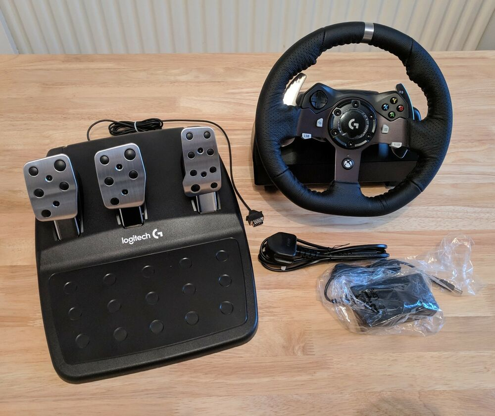 Logitech G920 Steering Wheel and Pedals for PC, Xbox One,