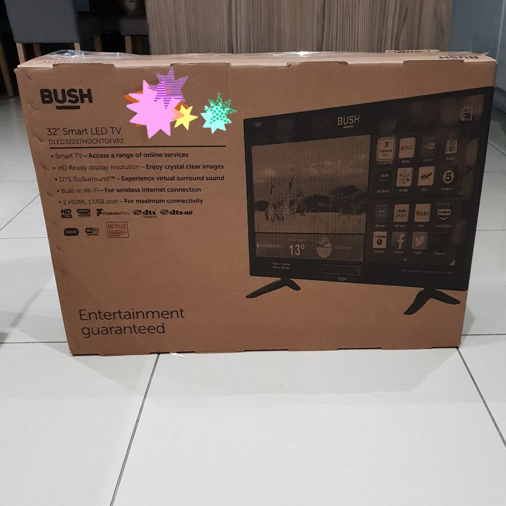 Bush 32 Inch HD Ready 720p Freeview HD Smart WiFi LED TV -